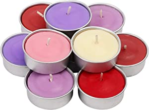 Exquizite Variety Collection - Highly Scented Luxury Tealight Candles Gift Set - 90 pcs - Set of 15 Tealights with 6 Fragrances - Lavender, French Vanilla, Rose, Apple Cinnamon, Lilac and Black Cherry