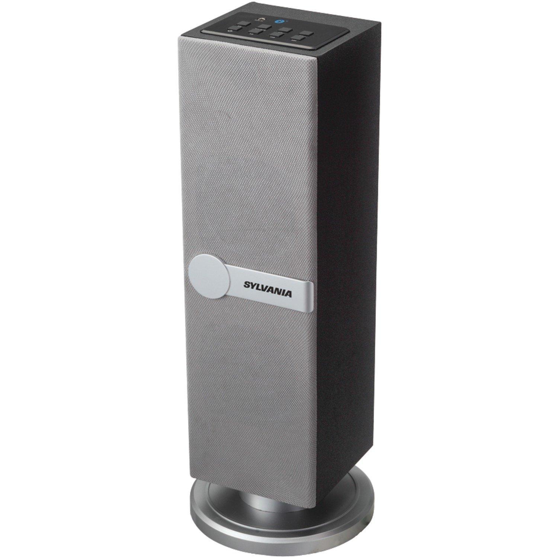 Sylvania SP269-Silver Bluetooth Floor Standing Tower Speaker (Certified Refurbished)