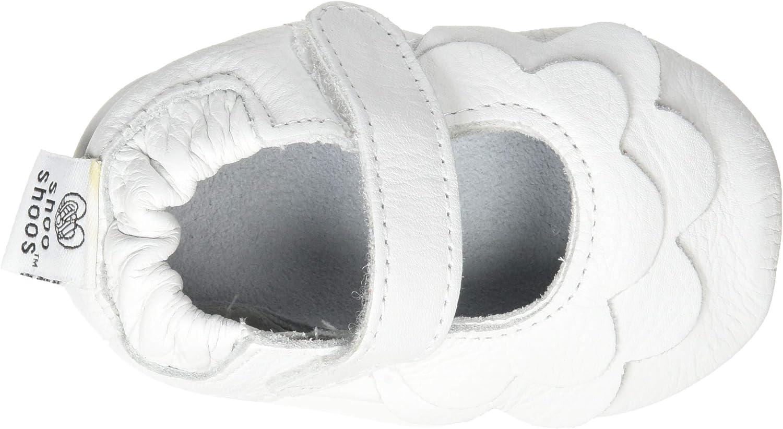 estilo volantes blancos Shoo Shoos Zapatitos de piel suela blanda talla L