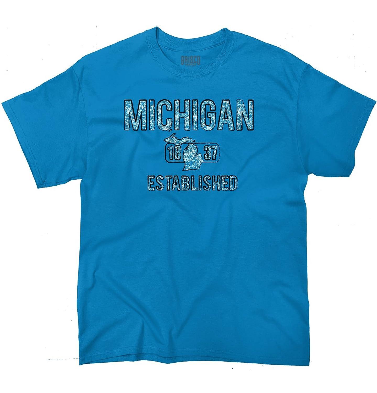 Michigan State Pride T Shirt State Flag USA Glove Shirt Gift T-Shirt