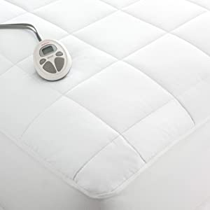 Sunbeam Luxury Quilted Electric Heated Queen Mattress Pad(Renewed)