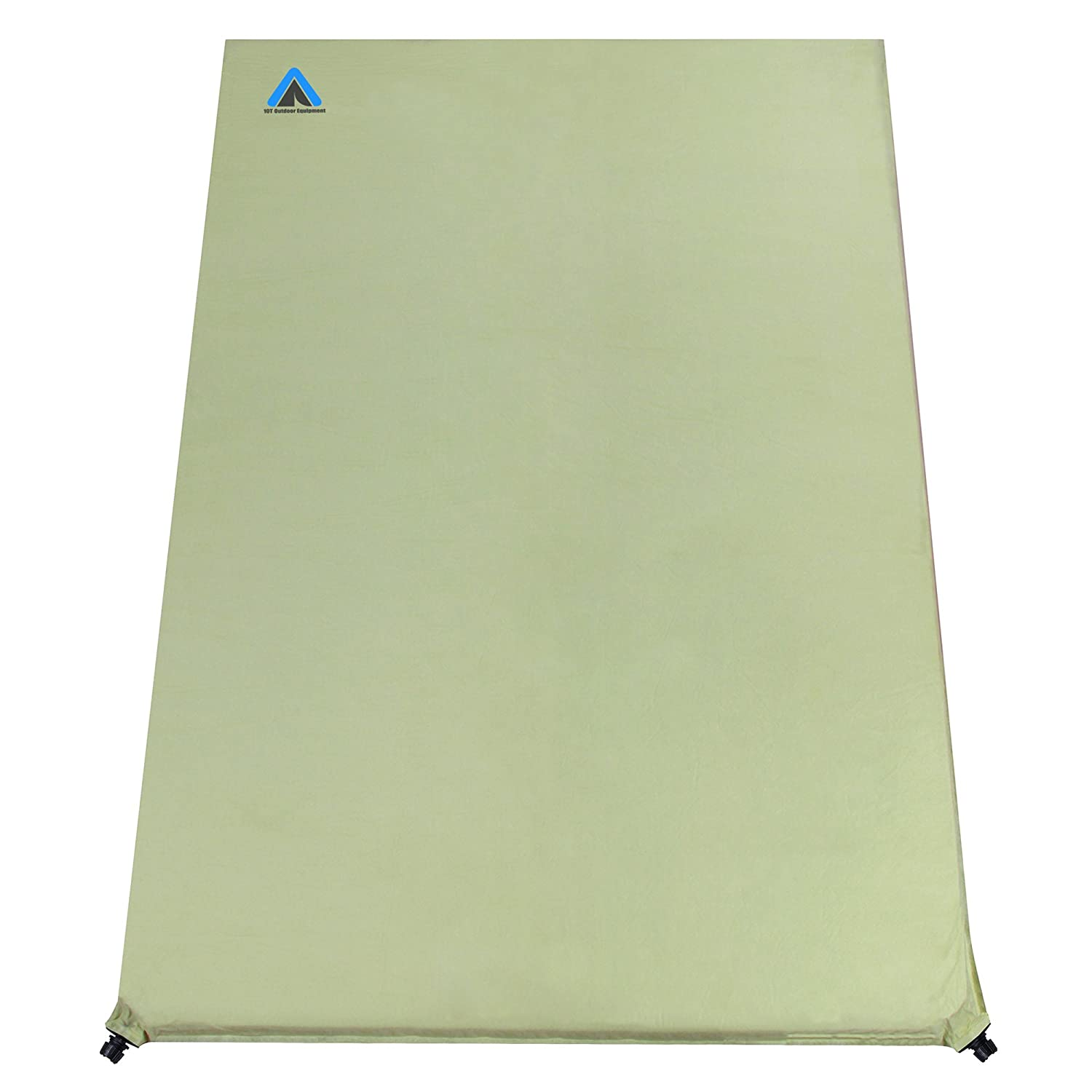 10T Outdoor Equipment Bea 600 Duo Selbstaufblasende Isomatte, Grün, 200 x 130 x 6 cm