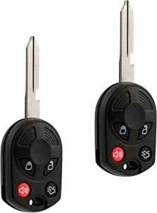 Key fits Ford Edge Escape Expedition Explorer Flex Five Hundred Focus Fusion Mustang Taurus Navigator Keyless Entry Remote Fob (OUCD6000022), Set of 2 - Guaranteed to Work