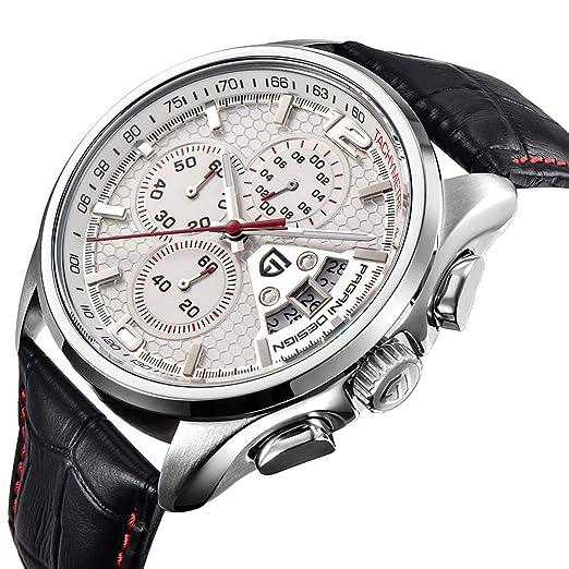 Reloj de Cuarzo multifunción para Hombre con cronógrafo y Reloj Deportivo: Amazon.es: Relojes