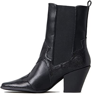 FOWT Women Western Boots Cowgirl Square