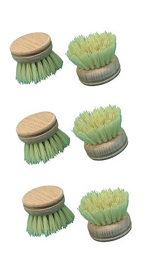 Brushmann - Cabezales de cepillo de dientes (madera, 6 unidades): Amazon.es: Hogar