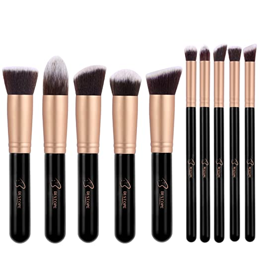 real techniques brush set gold. makeup brushes bestope 10pcs professional make up foundation brush powder set real techniques gold