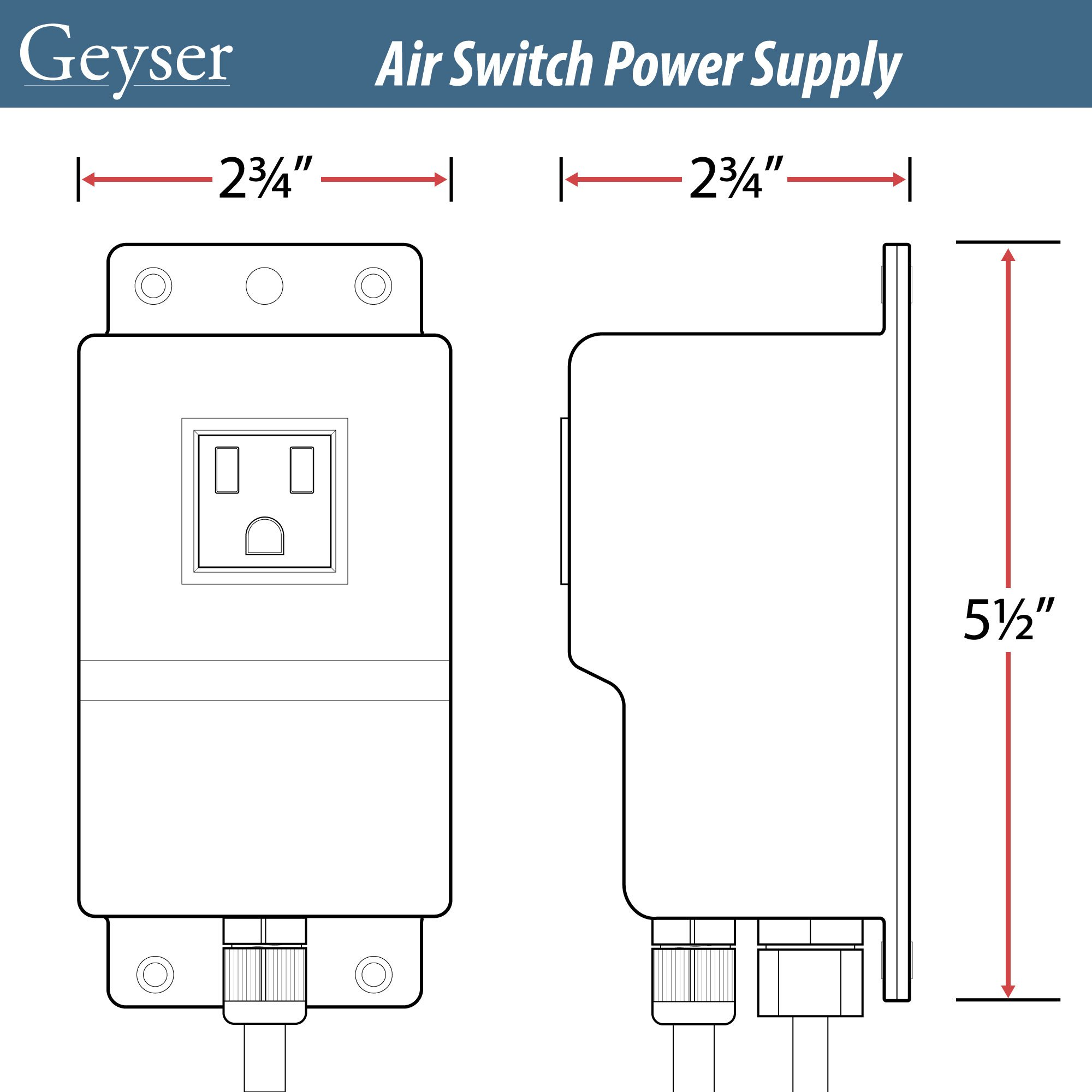 Geyser GA7, Air Swicth Control box