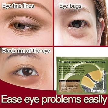 QHJ: máscara de ojos de oro de 24 quilates, antiarrugas ...