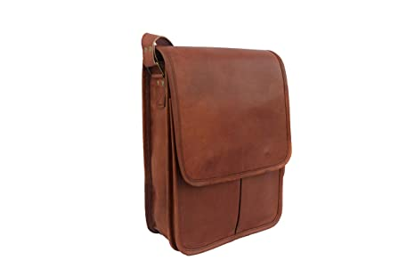 ad9e224833 Image Unavailable. Image not available for. Colour  Vintage Craft 12 Inches  Real Leather Unisex Messenger Bag Leather Laptop Bag Cross Body Shoulder Bag