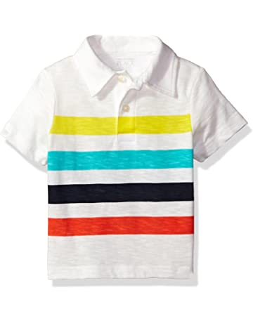 c750a26da The Children's Place Baby Boys' Short Sleeve Stripe Jersey Polo