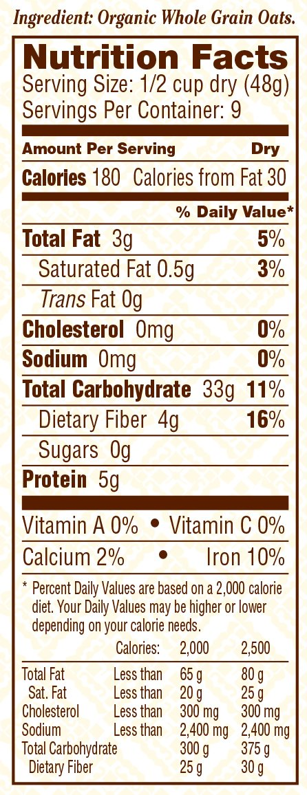 Bob's Red Mill Organic Extra Thick Rolled Oats, 16-ounce by Bob's Red Mill (Image #4)