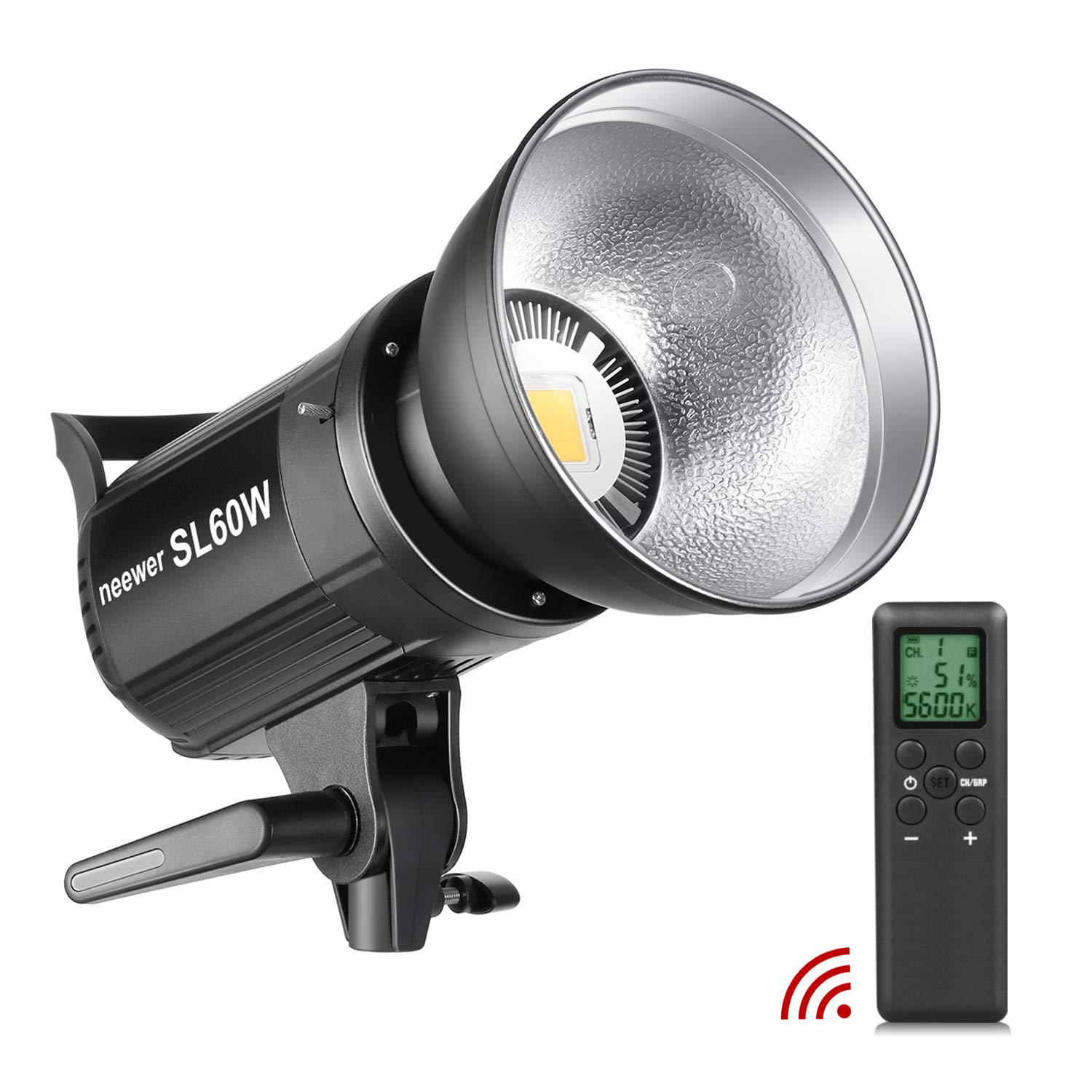 Neewer SL-60W LED Video Light White 5600K Version, 60W CRI 95+, TLCI 90+ with Remote Control and Reflector, Continuous Lighting Bowens Mount for Video Recording, Children Photography, Outdoor Shooting by Neewer