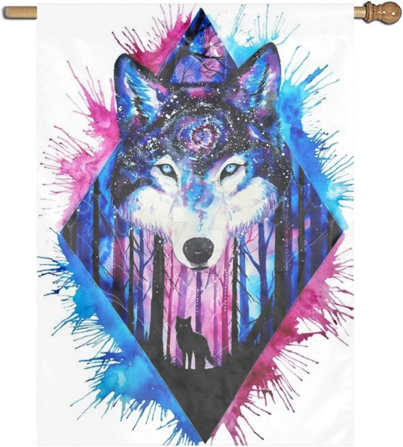 Amazon.com: XIAOTT Fashion Custom Garden Flag Art Cool Wolf ...