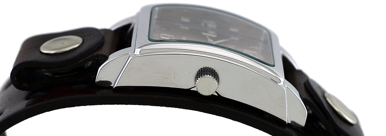 Nemesis # bbb516b Hombres de Color marrón Oscuro Amplia Banda de Cuero analógico Esfera marrón Reloj: Amazon.es: Relojes
