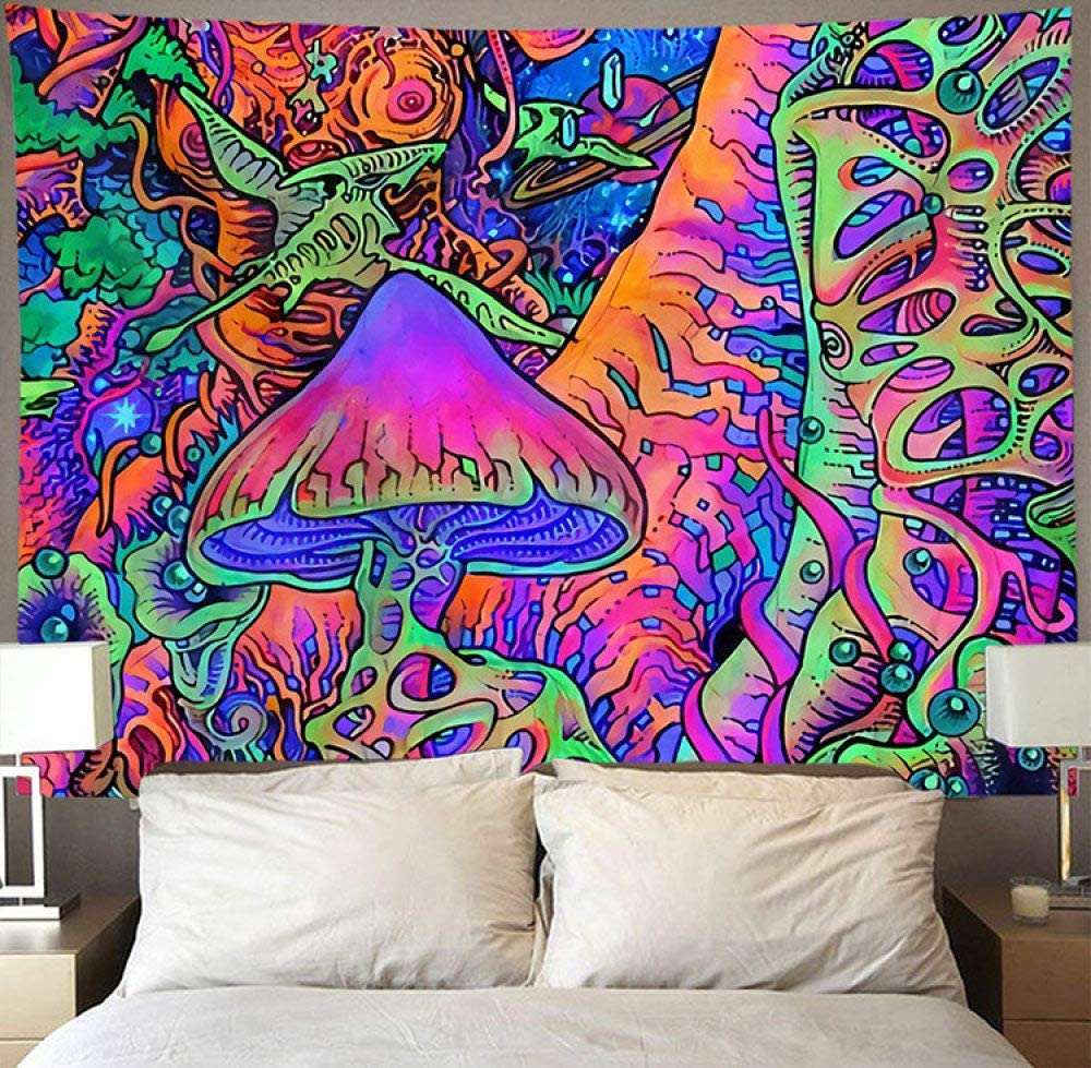 Wall Tapestry Trippy Psychedelic Tapestry Wall Hanging Colorful Mushroom Forest Large Polyester Art Decor Fabric For Living Room Bedroom 200 150cm Amazon Co Uk Welcome