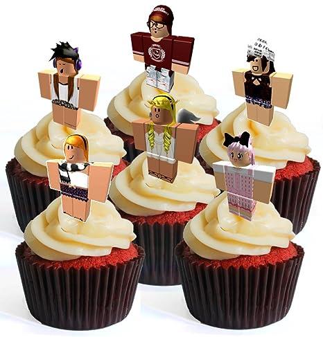 12 robotes de personajes de chica # 4 prélula adornos comestibles ...
