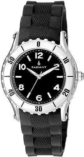 Radiant Reloj analogico para Hombre de Cuarzo con Correa en Caucho RA89001: Amazon.es: Relojes