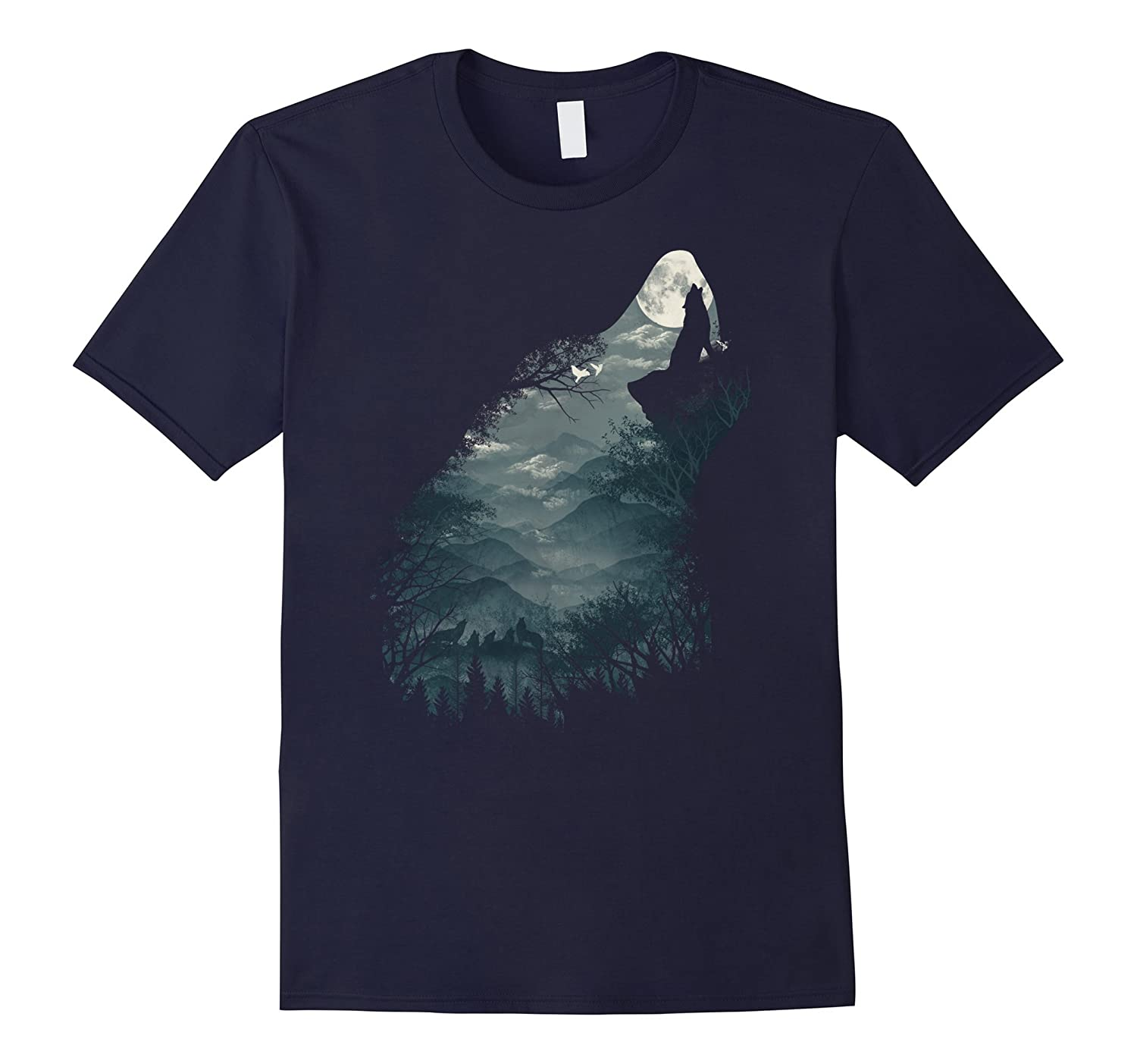 The Lone Alpha Wolf T Shirt for Men and Women-FL