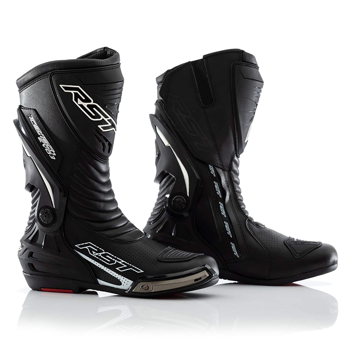 RST 2101 Tractech Evo 3スポーツCEユニセックスMotorcycle Boots – Flourecentレッド 40 EVO-2101-FLOU-RED B079NFYH49 Black, Flourecent Red 40