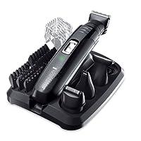 Remington PG6130 GroomKit, Stylingset für Gesichts- und Körperhaare, 4 abnehmbare Aufsteckköpfe, schwarz/grau