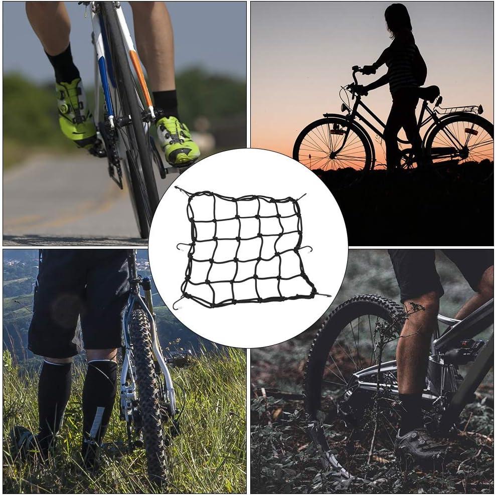 Pasamer Luggage Net Cover,Motorcycle Bike Bicycle Luggage Helmet Net Storage Bag Mesh Web with 6 Hooks