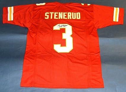 3eabd2d0f Jan Stenerud Autographed Signed Kansas City Chiefs Jersey HOF Memorabilia - JSA  Authentic