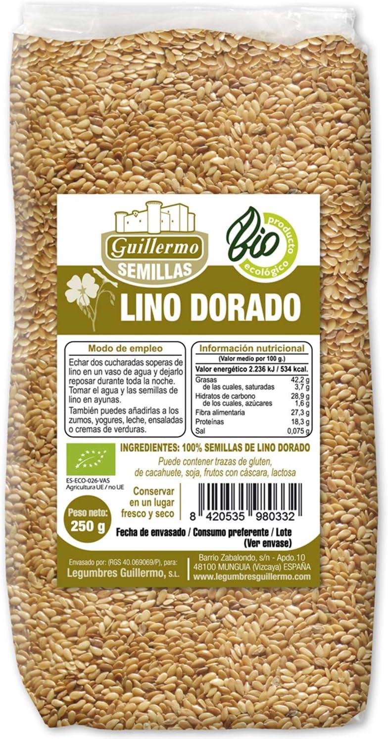 Guillermo Semillas de Lino Ecológica BIO Superalimento 100% Natural 250g