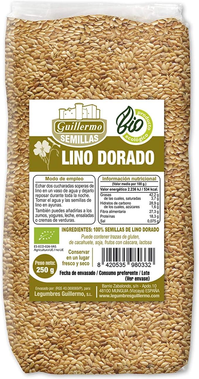 Guillermo Semillas de Lino Dorado Ecológica BIO Superalimento ...