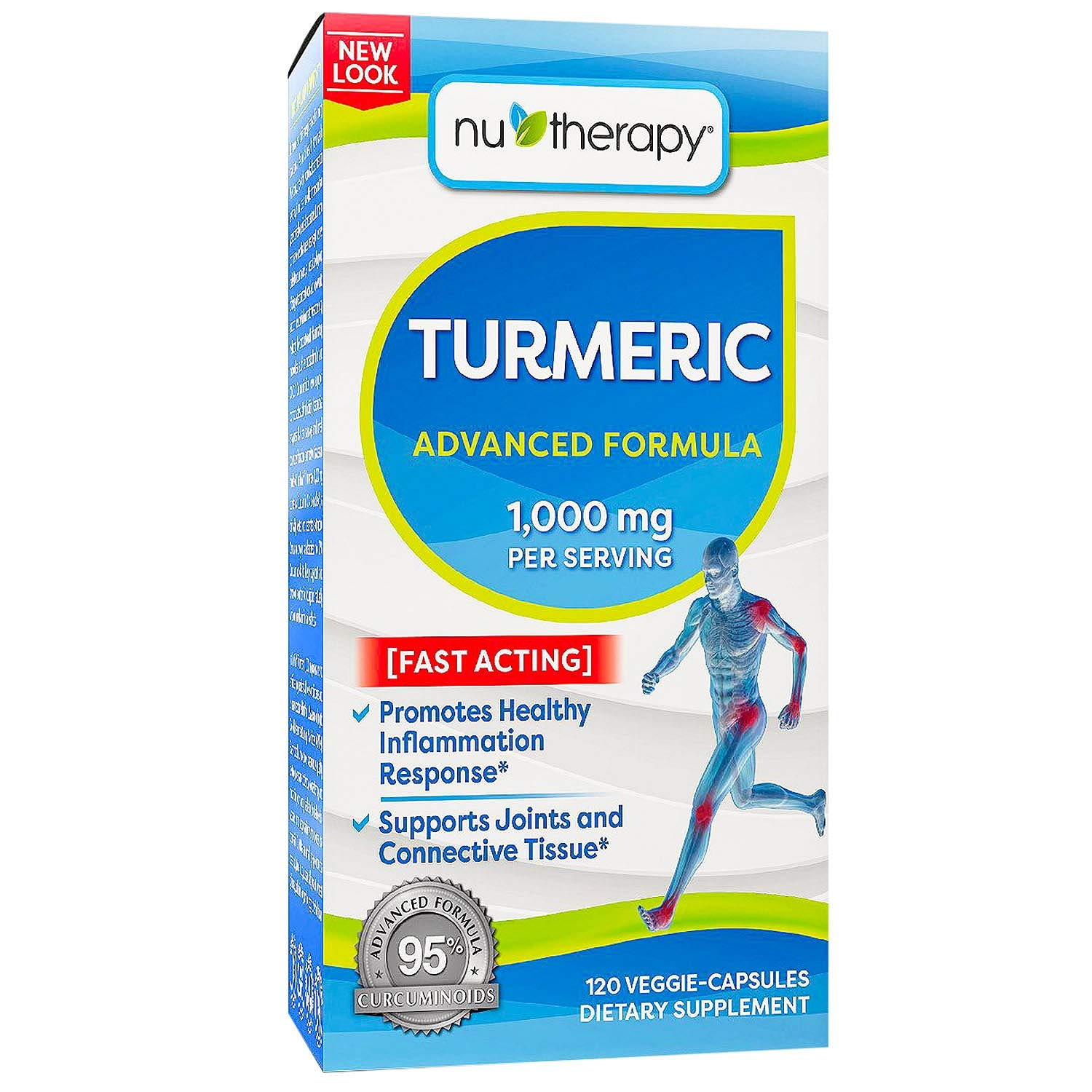 NuTherapy Turmeric 1000mg, Veggie-Capsules (120ct.) x6 AS