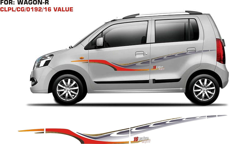 Automaze sticker graphics for maruti suzuki wagon r 0192 set of 2 red grey amazon in car motorbike