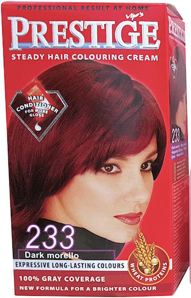 Vips prestige crema colorante para el cabello, color rojo de guinda 233