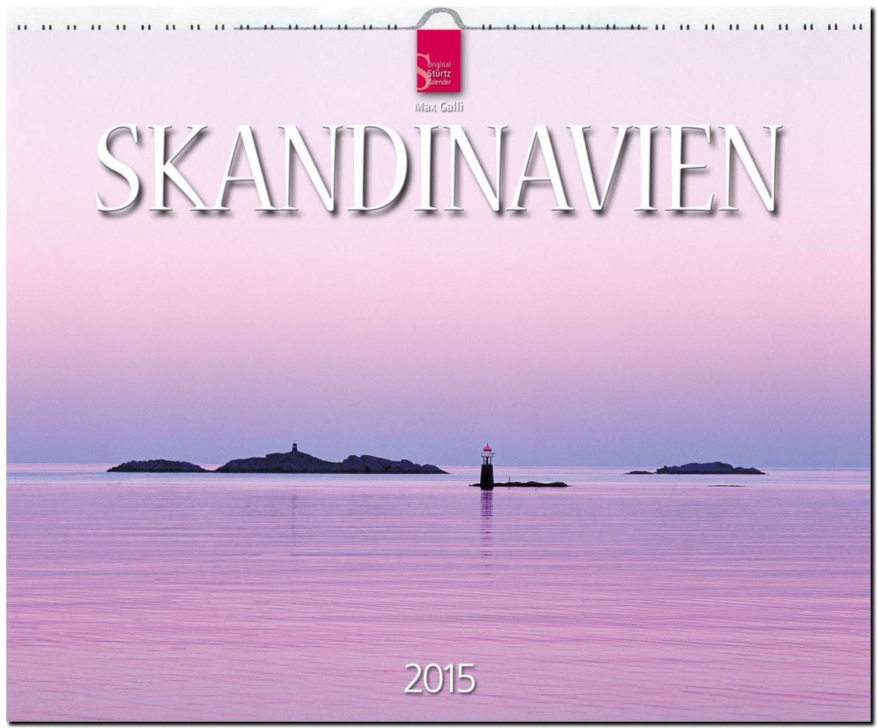 SKANDINAVIEN 2015 - Norwegen - Schweden - Finnland - Original Stürtz-Kalender - Großformat-Kalender 60 x 48 cm