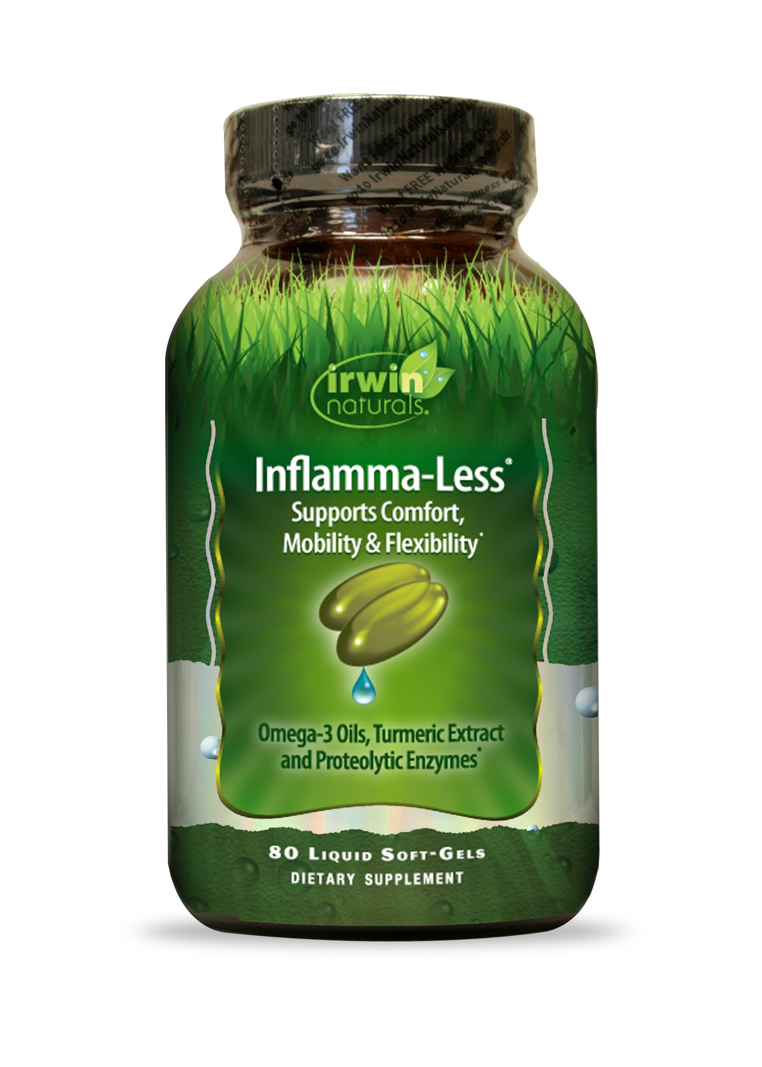 Inflamma-Less by Irwin Naturals, Supports Comfort, Mobility and Flexibility, 80 Liquid Softgels