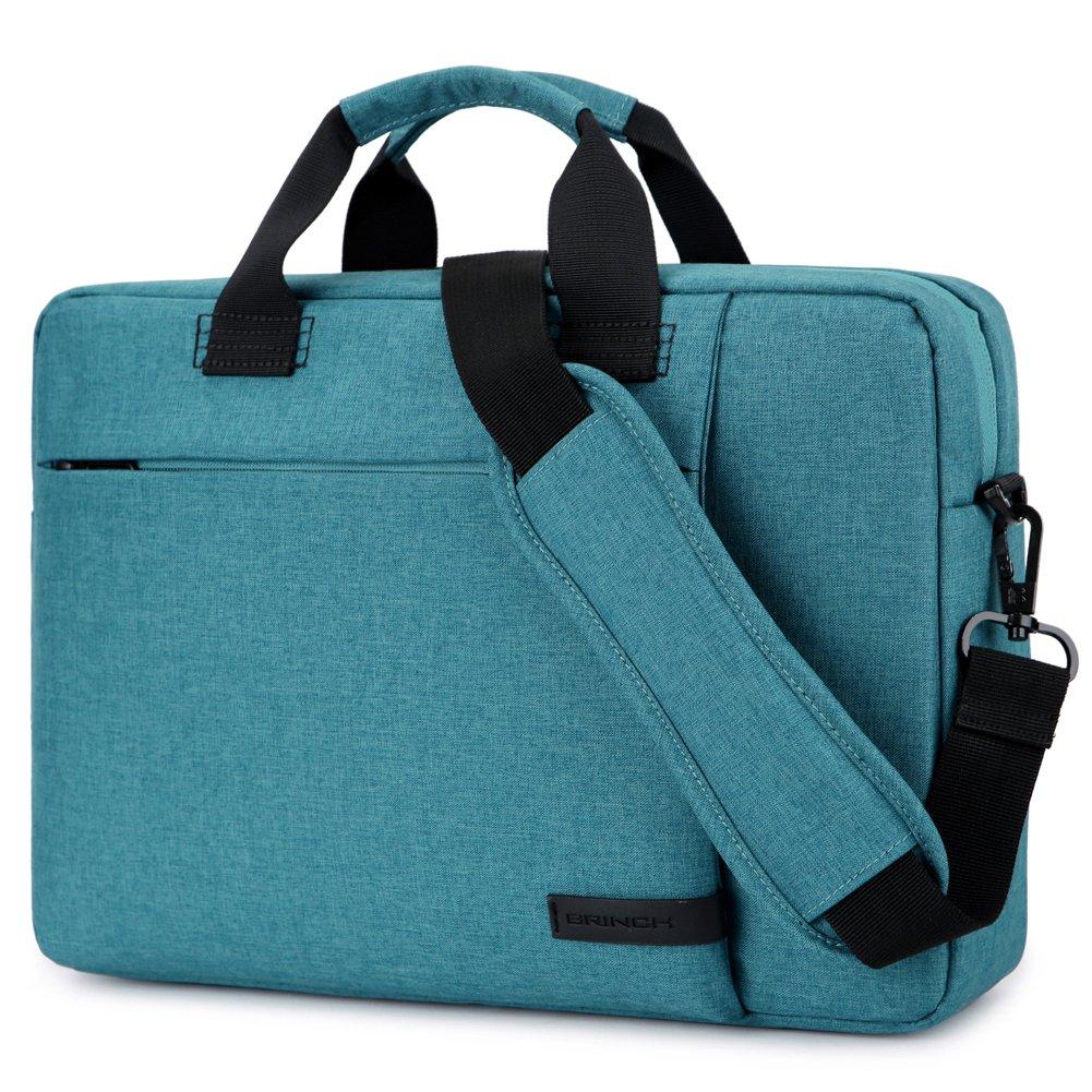 Laptop Bag 15.6 Inch, BRINCH Stylish Fabric Laptop Messenger Shoulder Bag Case Briefcase for 15-15.6 Inch Laptop/Notebook/MacBook/Ultrabook/Chromebook Computers (Black) Variation
