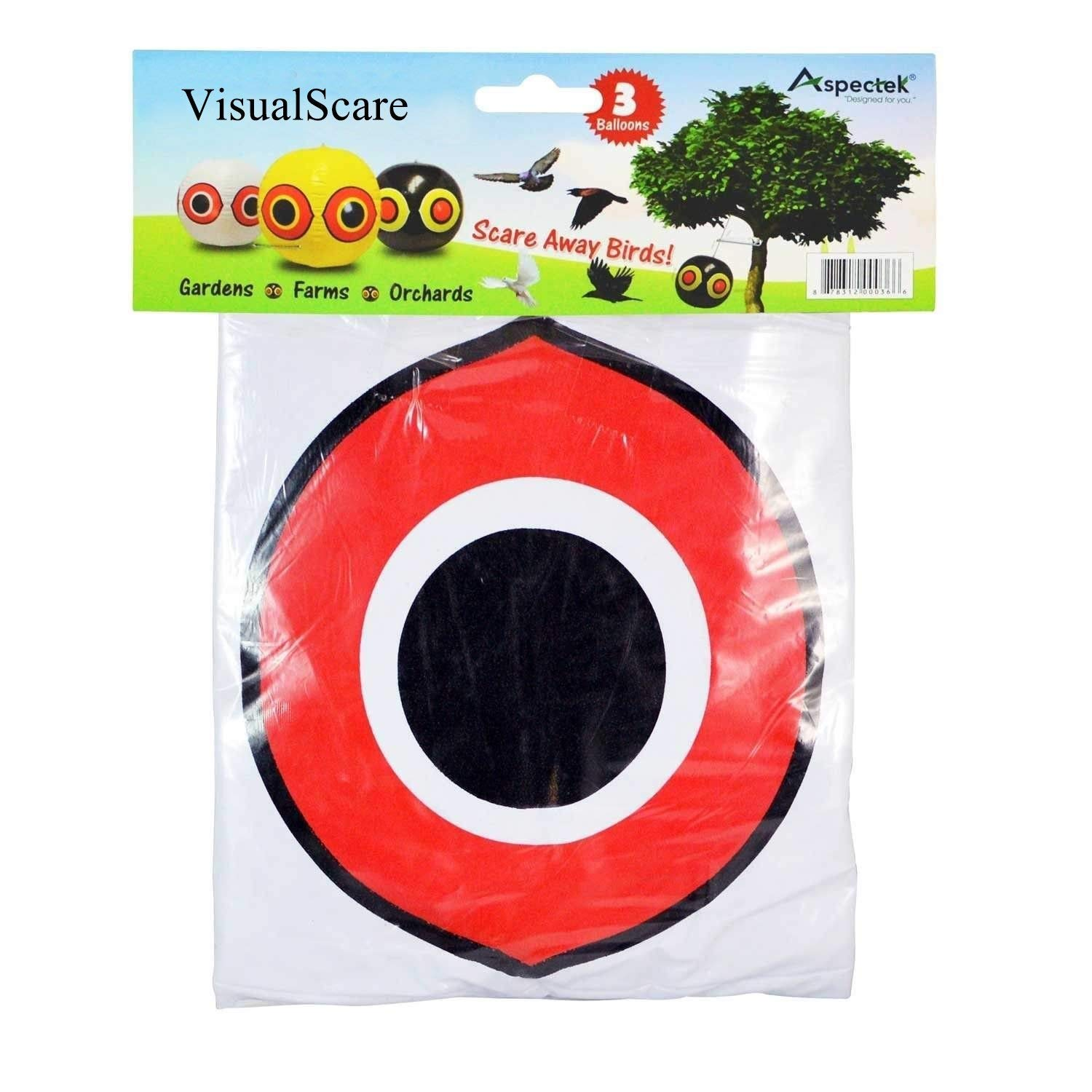 Aspectek Bird Repellent Scary Eye Balloons: Stops Pest Bird Problems Fast. Reliable Visual Deterrent: Secure Your Property From Damage/Mess. Ward off Woodpecker, Pigeons, Sparrows. 100% Moneyback Guaranteed HR494