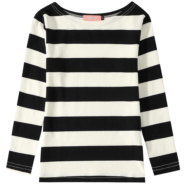 Camii Mia Big Girl's Classic Long Sleeve Cotton Stripe Tee T-Shirt