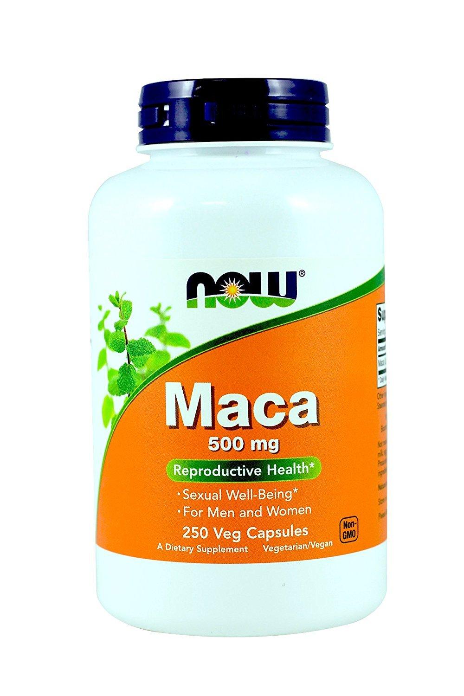 NOW Foods Maca 500mg, 250 Caps 2 Pack
