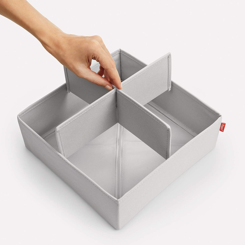 Rayen 2017.11 Organizatore di cassetti Pieghevole Formato da 6 scatole per ordinare Biancheria di Diverse Dimensioni 28 x 28 x 10 2 und Grigio Chiaro, cm 14 x 28 x 10 , 14 x 14 x 10