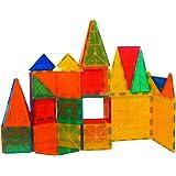Mag-Genius Award Winning building Magnet Tiles Blocks Clear Colors 3D Brain Building Blocks, Set Of 60 Piece