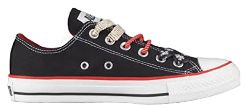d5ede310177116 Converse Chuck Taylor All Star Lo Top Fun Christmas Laces Black Multi  Colored Canvas Shoes