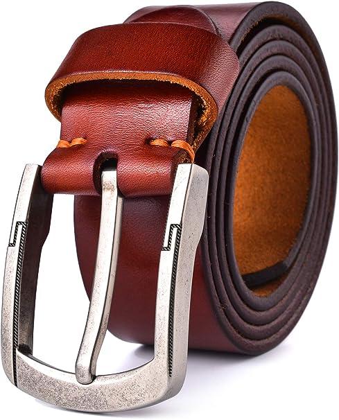 Amazon.com: Alice & Elmer - Cinturón de piel de grano ...