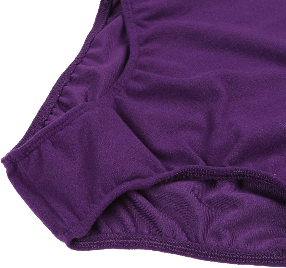 iixpin Kids Girls One Piece Basic Ballet Dance Leotard Short Sleeves Cotton Gymnastic Dancewear Classic Unitard