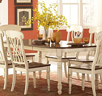 Phenomenal Amazon Com Home Elegance Ohana Dining Table By In 2 Tone Beatyapartments Chair Design Images Beatyapartmentscom