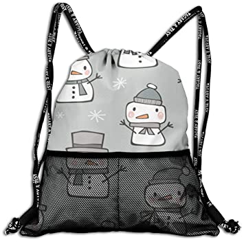 Amazon.com: Mochila con cordón para nieve de invierno, bolsa ...