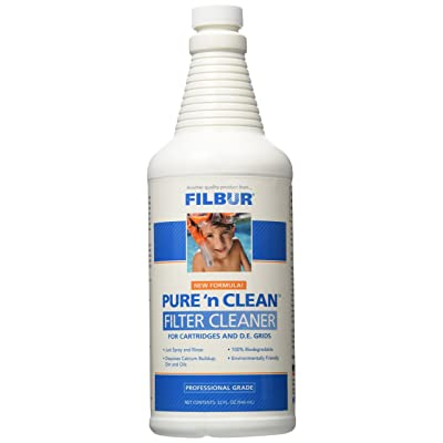 Filbur FC-6350 Pure n' Clean Cartridge and DE Filter Cleaner, 32-Ounce : Automotive Cleaning Products : Garden & Outdoor