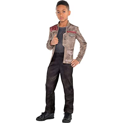 Costumes USA Star Wars 7: The Force Awakens Finn Costume for Boys, Includes a Jumpsuit and Attached Jacket: Clothing