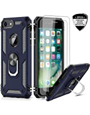 iPhone 6s /6 Case, iPhone 7 Case, iPhone 8 Case, LeYi Military Grade Armor Full-Body Dual Layer Protective Phone Cover Case with 360 Degree Rotating Holder Kickstand for Apple iPhone 6/ 6s/ 7/8 Blue