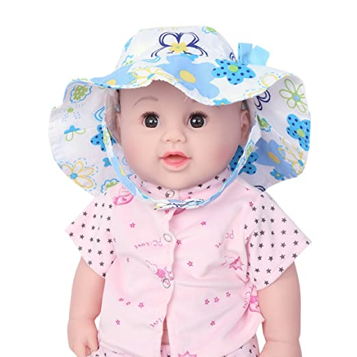 YiZYiF Baby Girls Kids Floral Bowknot Sun Protection Hat With Chin Strap