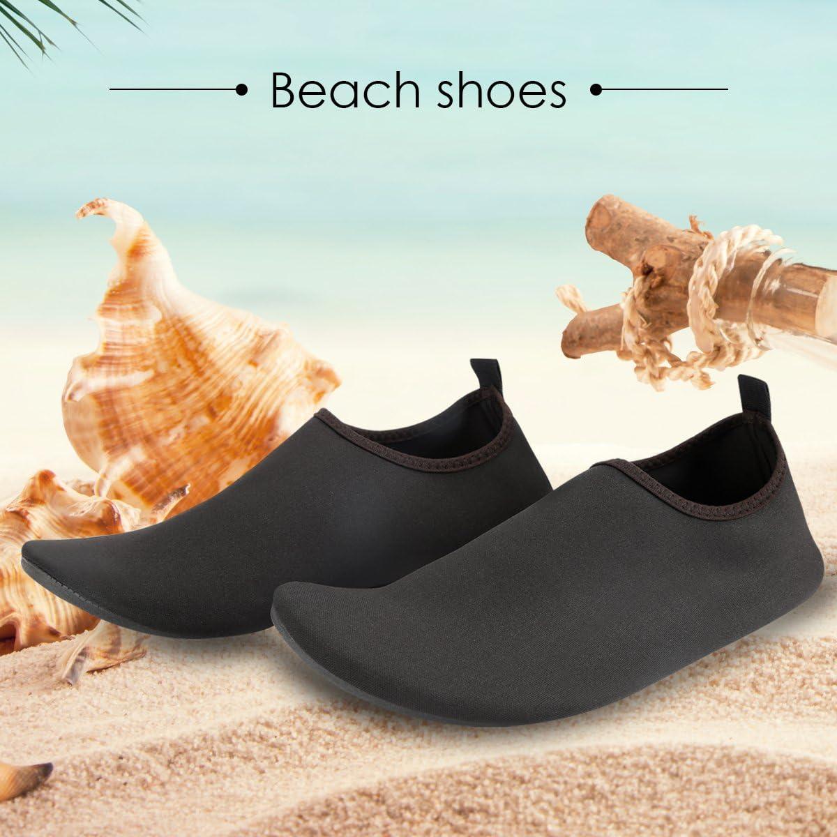 KUNSHOP Water Shoes Slip-on Aqua Beach Shoes Quick Dry Barefoot Sport Skin Sandals for Men Women Swim Summer Outdoor
